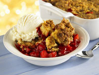 Fruit cobblers and crisps are easy summer desserts.