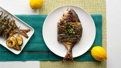 Grilled Pompano in Plantain Leaves - Recipe by Denisse Oller