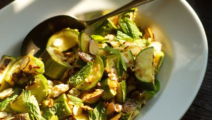 Roasted Zucchini and Mint Salad Meatless Monday recipe