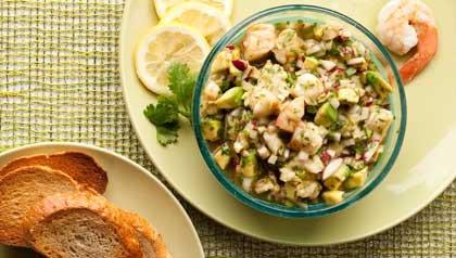 Mexican Shrimp Ceviche - receta de Denisse Oller