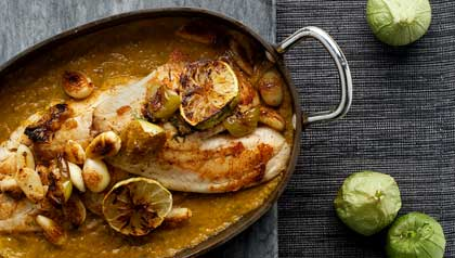 Fish in Green Adobo Sauce
