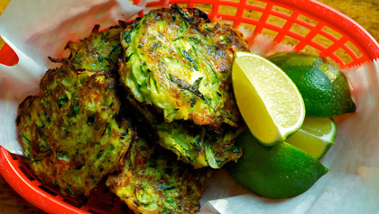 meatless monday zucchini fritters recipe