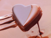 Mousse de chocolate con corazón, receta por Denisse Oller