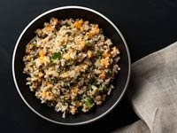 Quinoa Risotto con calabaza, Receta de Denisse Oller