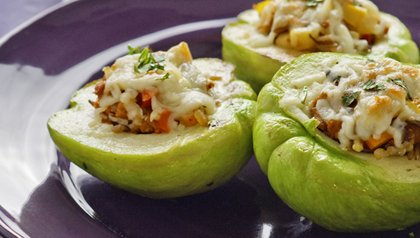 Stuffed Chayotes with Oaxaca Cheese Denisse Oller recipe