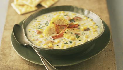 Summer Produce: Squash, Corn and Tomatoes: Corn Chowder Recipe