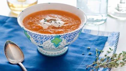 Sopa de Zanahoria con Malanga - Receta de Dennise Oller