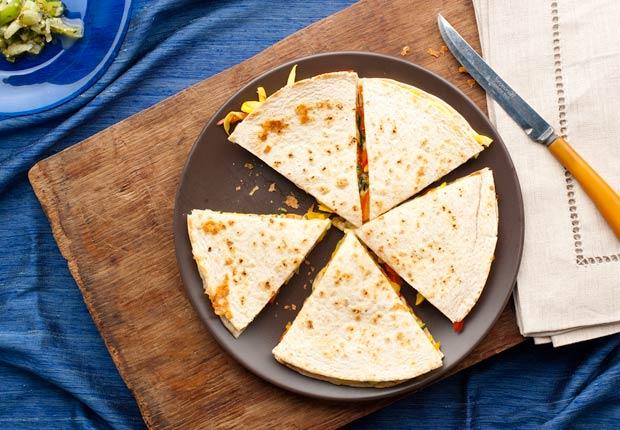 item 6 of Gallery image - Vegetarian Quesadillas,Quesadillas con salsa verde