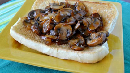 AARP Food Expert Pam Anderson: Three Hearty Meatless Sandwich Recipes: Barbecued Mushrooms Sandwich