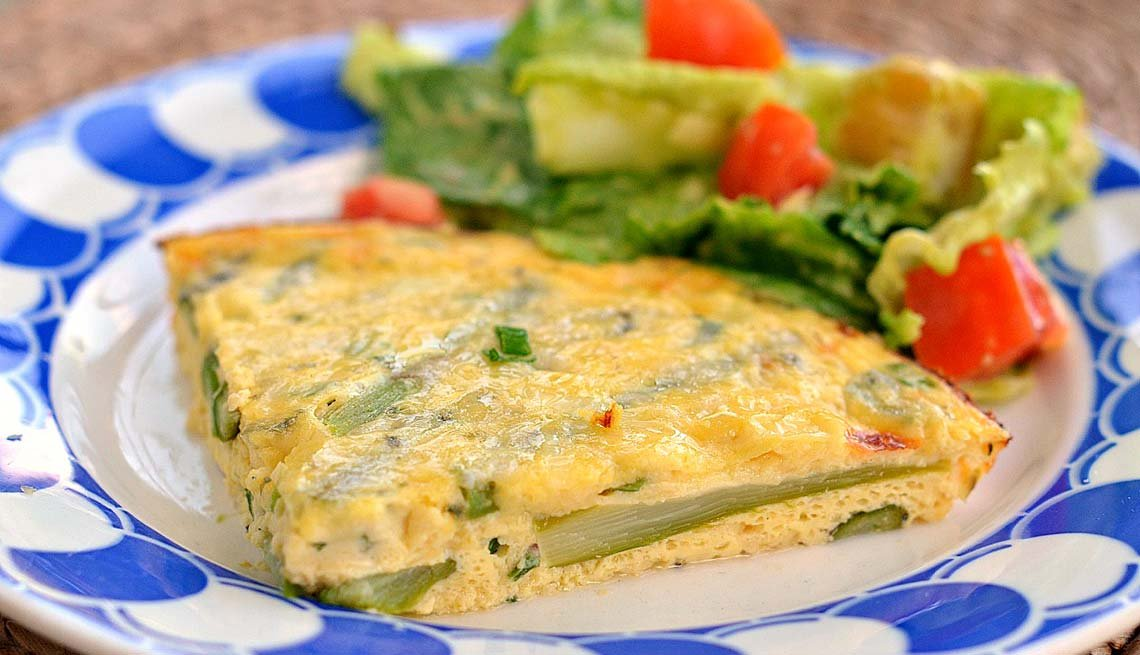 Three Dishes That Increase Your Libido - Crust-less Asparagus Quiche