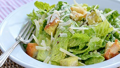 Three Dishes That Increase Your Libido - Caesar Salad with Avocado Dressing