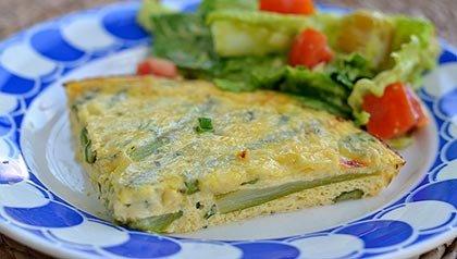 Tres platos que aumentan su libido - Quiche de huevos y espárragos