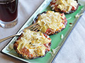 Vegetable Pizza Recipes: Crustless Portabella Mushroom Pizzas with Artichokes and Provolone