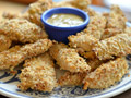 Chicken tenders done the healthy way. For Three healthy southern recipes online.