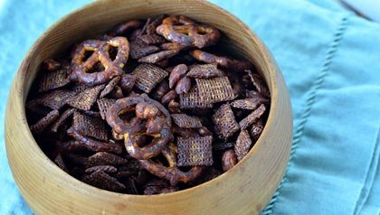 Pam Anderson: Three Healthy Chocolate Snack Recipes - chocolate Trail Mix