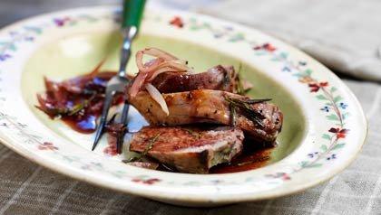 Lomo de cerdo en salsa roja - Receta de Dennise Oller