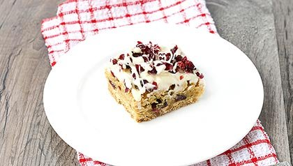 Oatmeal Berry Bar, Christmas Cookie Alternatives