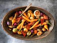 Verduras asadas en una olla de cobre - REceta de Denisse Oller