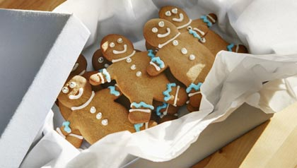 Gingerbread cookies in a box, The Gift of Food