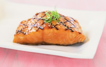 Glazed Salmon, Recipes for a Health Heart This Valentine's Day