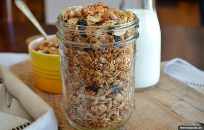 Coconut Granola with Blueberries and Walnuts, Snacks to Improve Brain Function