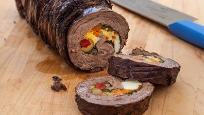 Matambre - Rollo de carne argentina, una receta de Ingrid Hoffmann