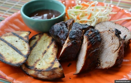 Barbecue-Marinated 5-4-5-Grilled Pork Tenderloin, Memorial Day Recipe by Pam Anderson