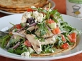 Chicken Souvlaki Salad, healthy dairy recipes (Maggy Keet)