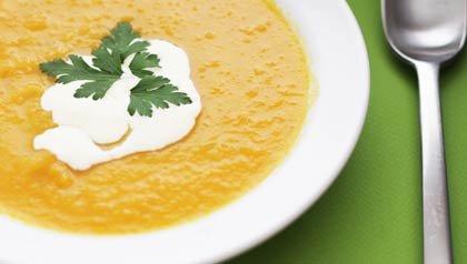 Receta de sopa de zanahoria y coco