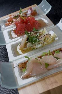Ceviche de pez español y caracol - Receta del Chef Douglas Rodríguez
