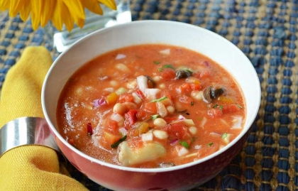 Chilled Antipasti Soup, Three Main-Course Chilled Soups Recipes by Pam ...