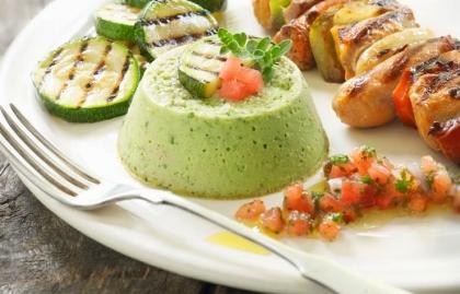 Receta flan de zucchini