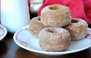 Better-for-you Fall treats, baked apple cider donuts