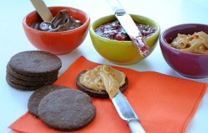 Better-for-you Fall treats, chocolate linzer cookies