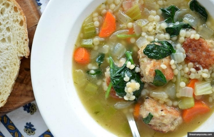 Quick Italian Wedding Soup,  Meat as a Flavoring Recipe by Pam Anderson (threemanycooks.com)