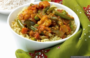 Vegetable curry with rice, Cookstr Recipes for Easy Indian Dishes (Sue Hiscoe/the food passionates/Corbis)