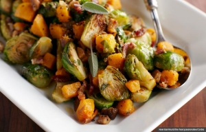 Brussels Sprouts in a Serving Dish with Garnish, Cookstr Recipes with Fall Produce (Noel Barnhurst/the food passionates/Corbis)