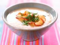 Receta de sopa de apio, manzana y castañas