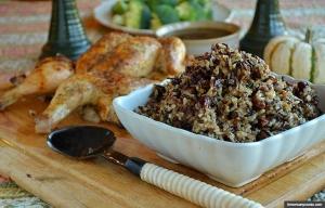 Pollo y arroz, recetas de Acción de Gracias por Pam Anderson