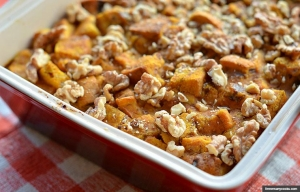 Pumpkin Bread Pudding, Thanksgiving recipes by Pam Anderson (threemanycooks.com)