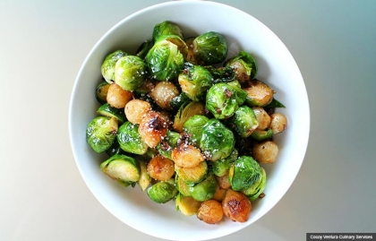 brussel sprouts, Chef Cocoy's Healthy Holiday Recipes (Cocoy Ventura Culinary Services)