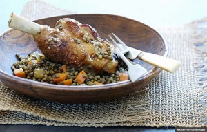 Lamb shank with side dish, Recipes for Easter (Michael Hart/Getty Images)