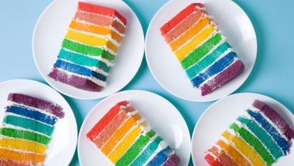 Pastel de arco iris - receta para el día de San Patricio