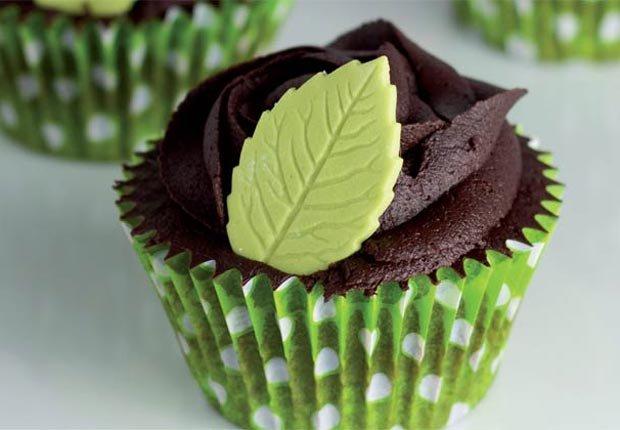 Cupcakes de chocolate y menta - Recetas para el día de la madre