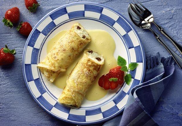 Crepe con fresas y queso - Recetas para el día de la madre