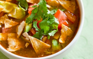 Tortilla soup with cilantro leaves, Cookstr: Rick Bayless' Best Cinco de Mayo Recipes