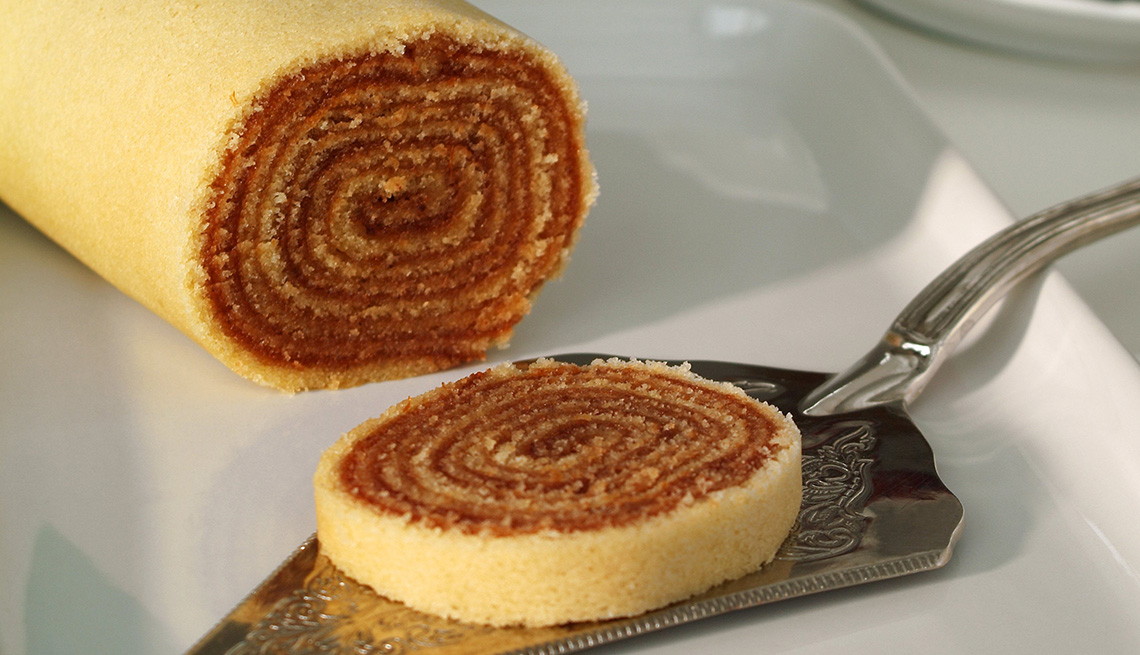 Cake redondo con sabor a Brasil
