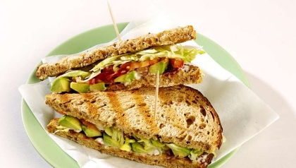 avocado bacon lettuce tomato sandwich recipe blt blts plate