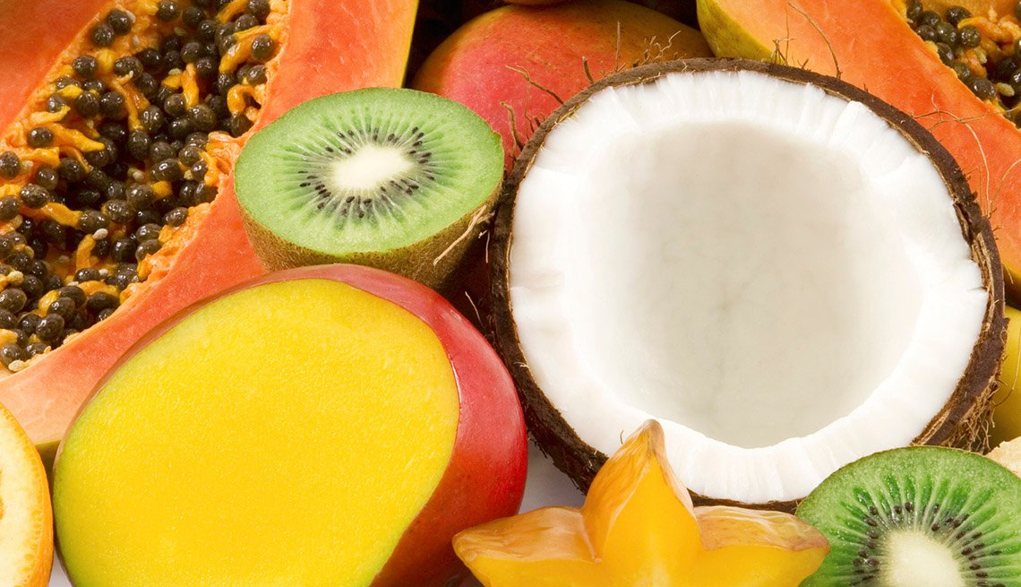 Frutyas tropicales Kiwi, Coconut, Mango, Papaya