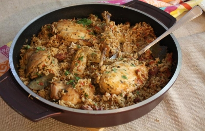 Receta de arroz y pollo
